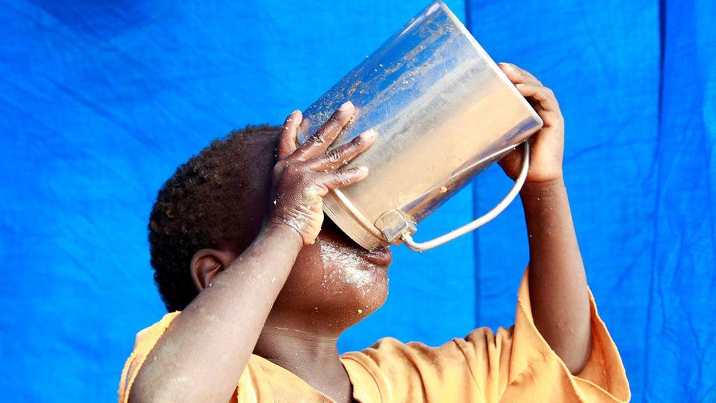 Refugiado sediento