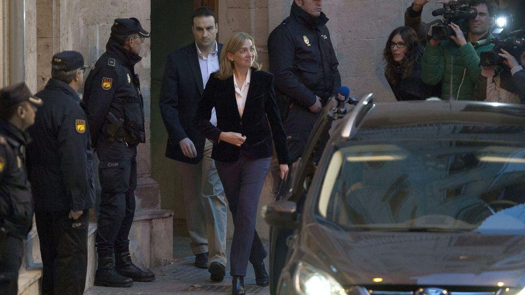 La Infanta Cristina abandona los juzgados