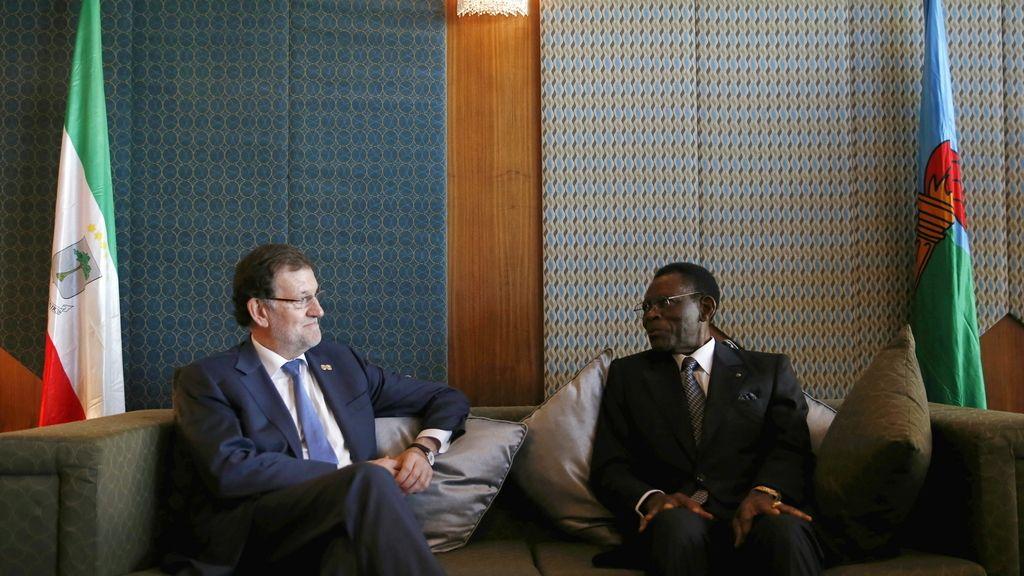 Rajoy y Obiang