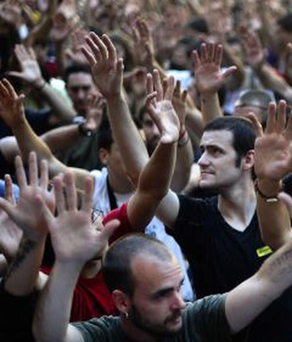 Los 'indignados' se volverán a manifestar en decenas de ciudades españolas este domingo. Foto: Gtres.
