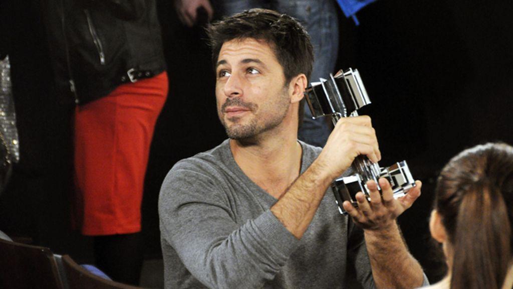 Hugo Silva ha sido elegido por el jurado como el actor más bello de nuestro cine
