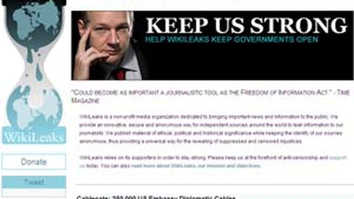 WikiLeaks ha recuperado su dominio original. Foto: www.wikileaks.ch