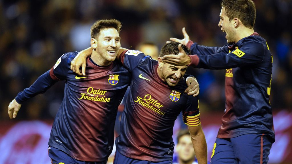 Leo Messi, Xavi, barca