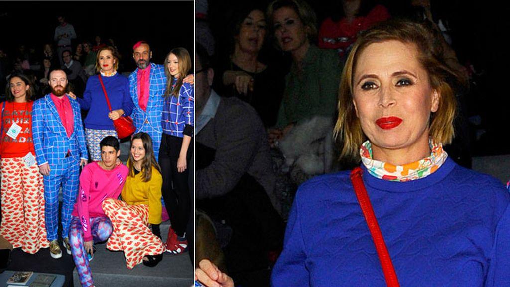 Agatha Ruiz de la Prada en el desfile de Ailanto