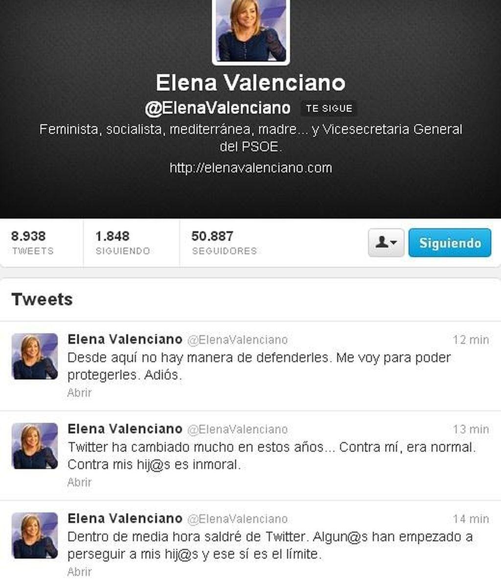 Elena Valenciano abandona Twitter