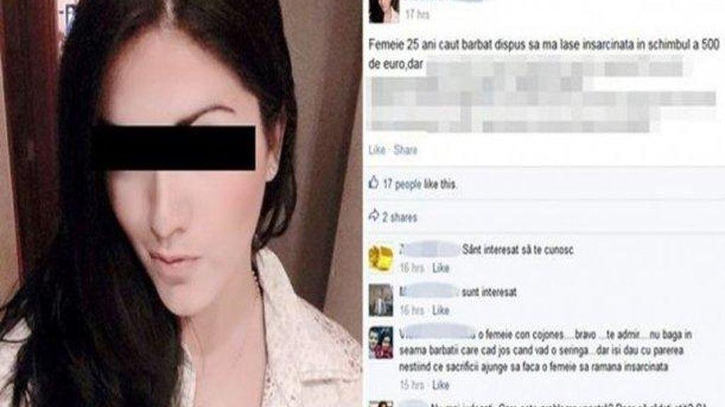 Joven rumana paga 457 euros por quedarse embarazada