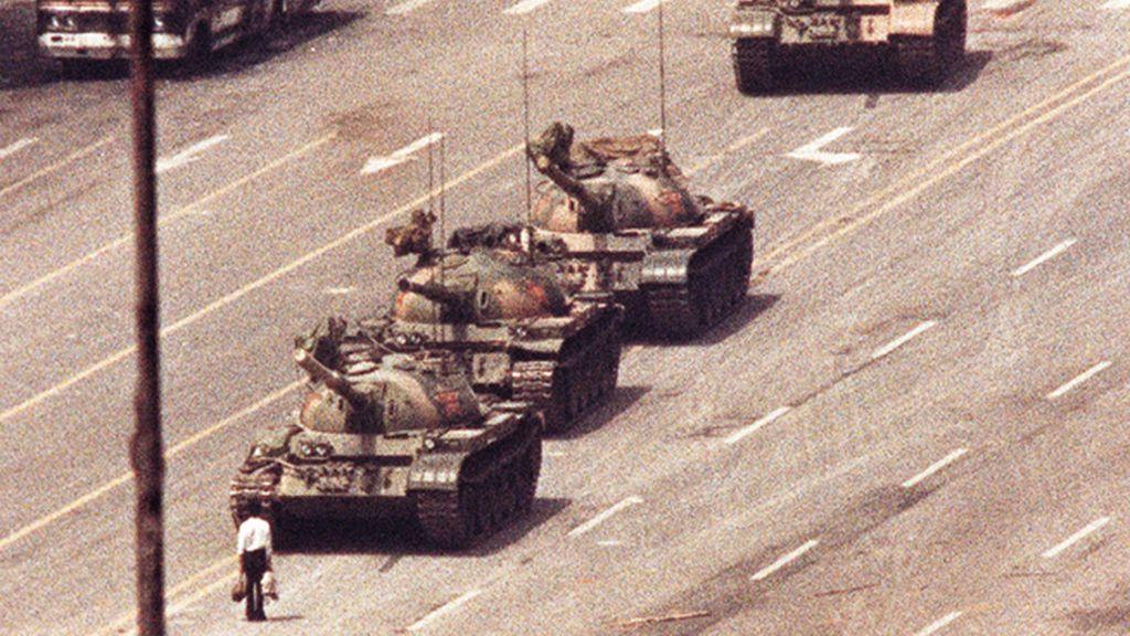 'El hombre del tanque', en la plaza de Tiananmen, en Pekín