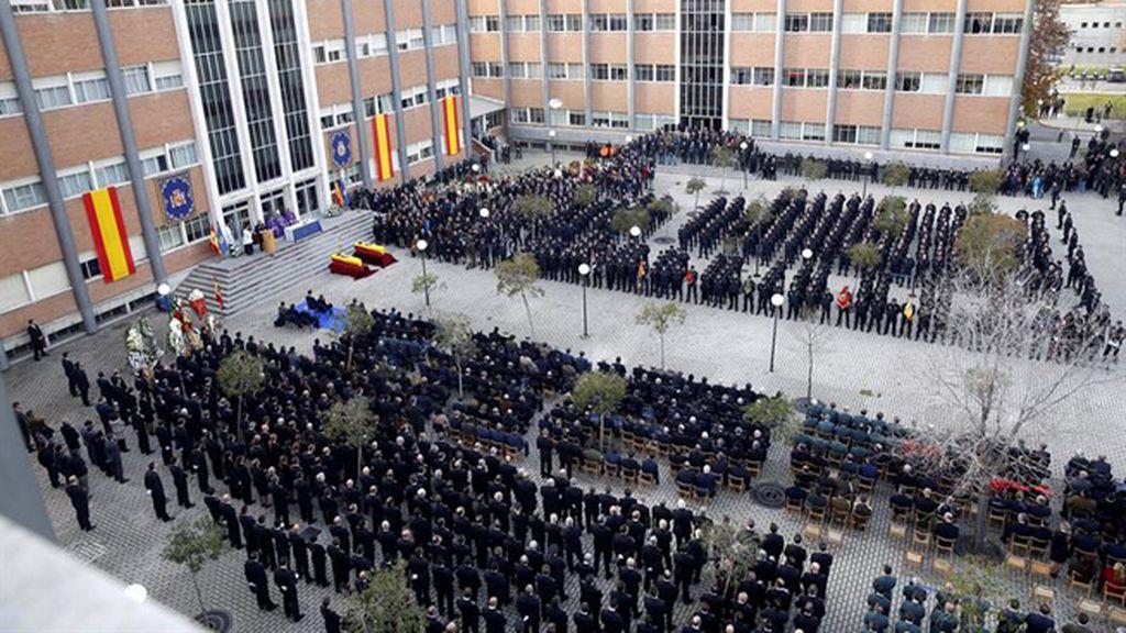 Las imagenes del funeral de Estado por los policías fallecidos en Kabul