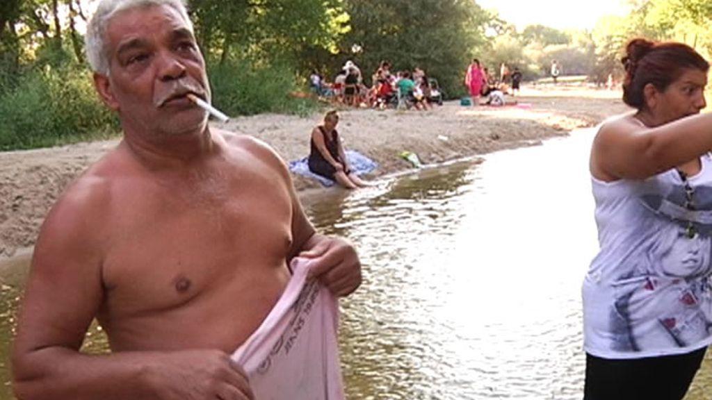 Baño en el Manzanares