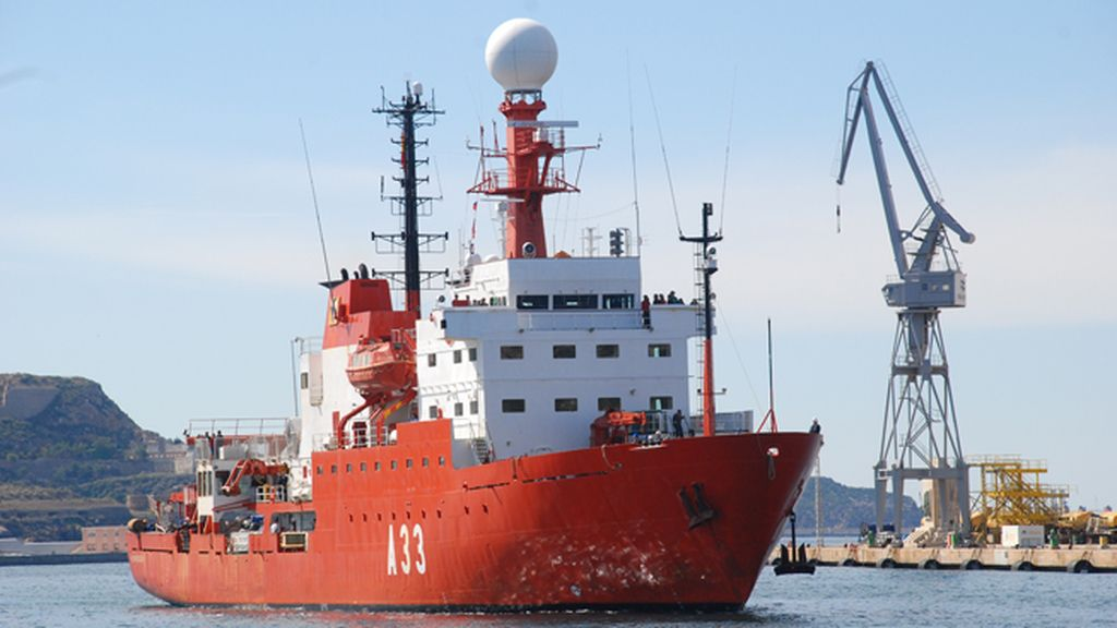El buque Hespérides de investigación oceanográfica