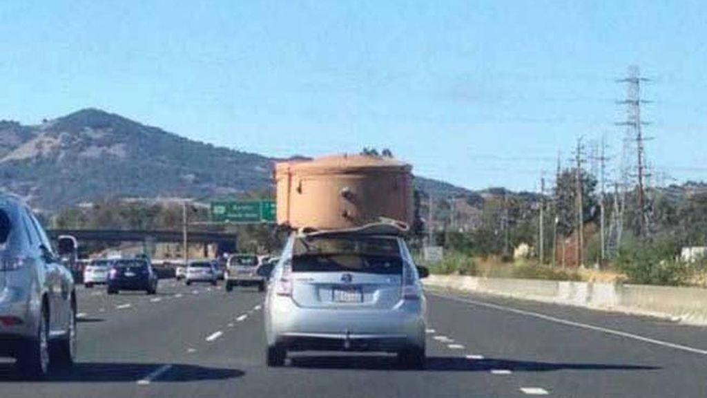 Coches que transportan de todo
