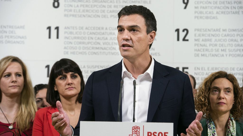 Pedro Sánchez presenta el código ético del PSOE
