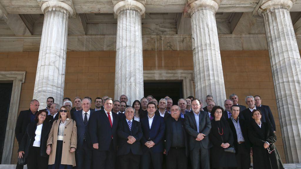 Los ministros de Tsipras