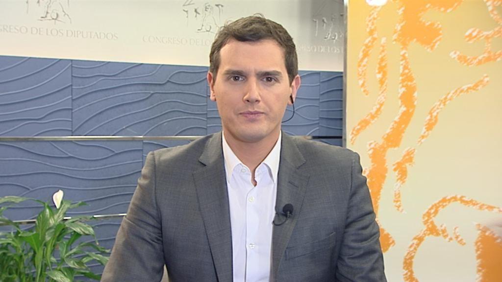 Albert Rivera, en Informativos Telecinco