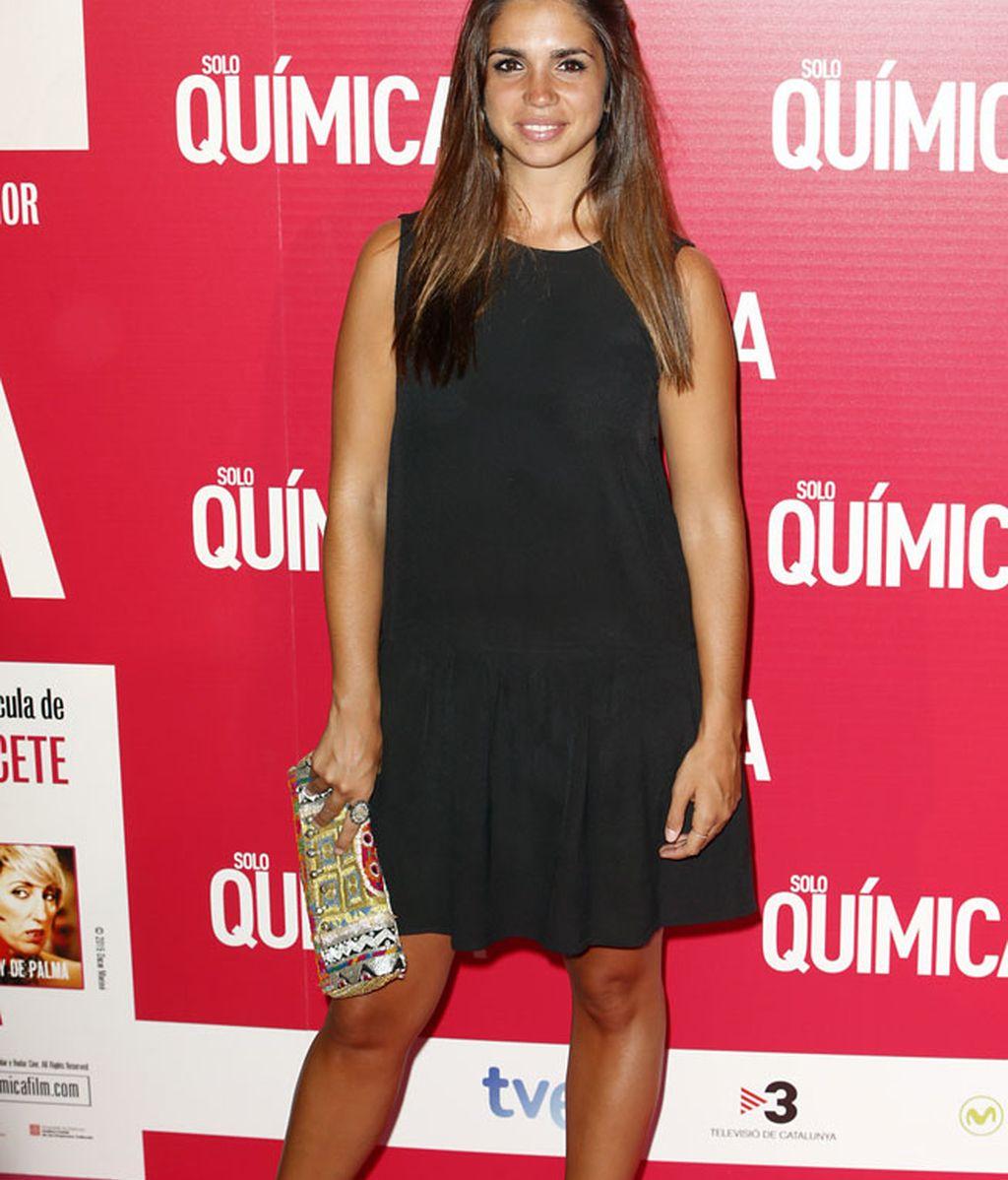 La actriz Elena Furiase con un sencillo modelo negro
