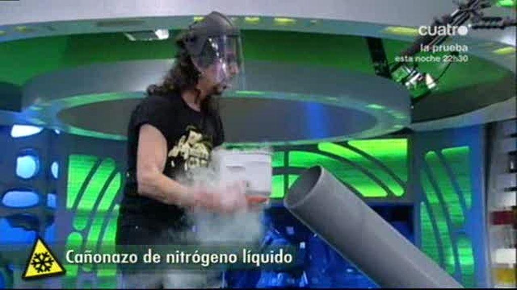 El cañón de nitógeno líquido de Marron
