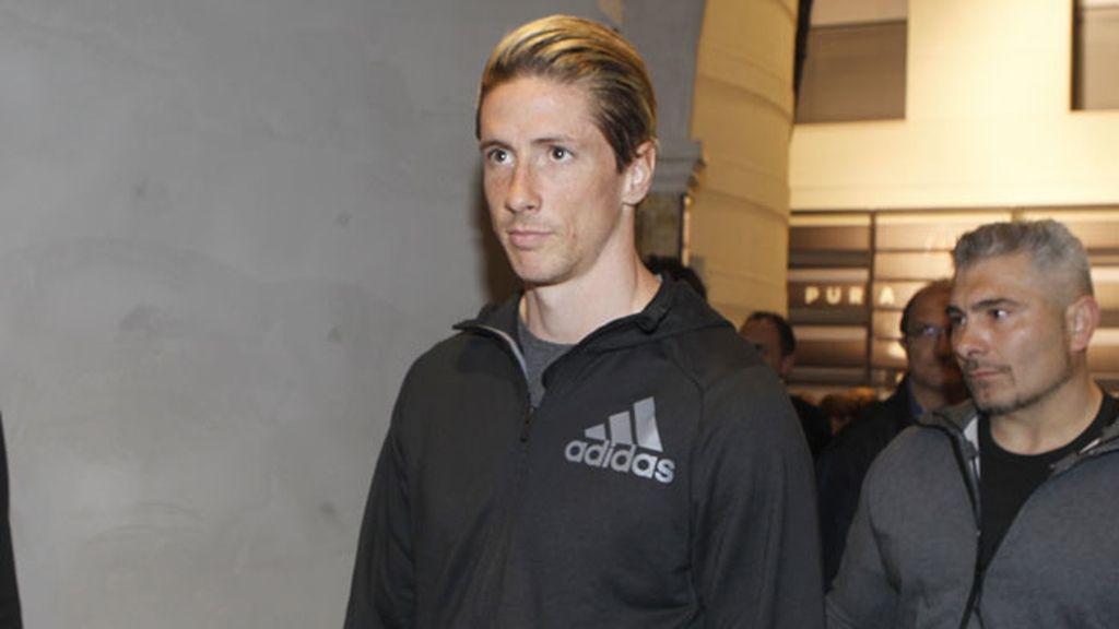 Fernando Torres también con ropa deportiva, como es habitual