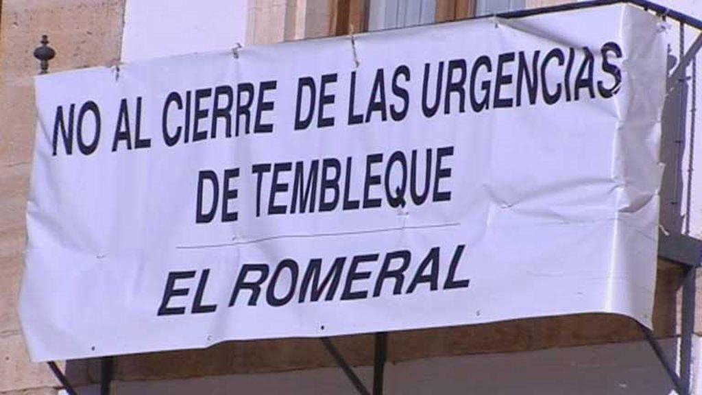 Protestas en Tembleque contra el cierre de las urgencias nocturnas