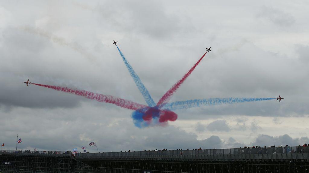 Espectáculo aéreo en Silverstone