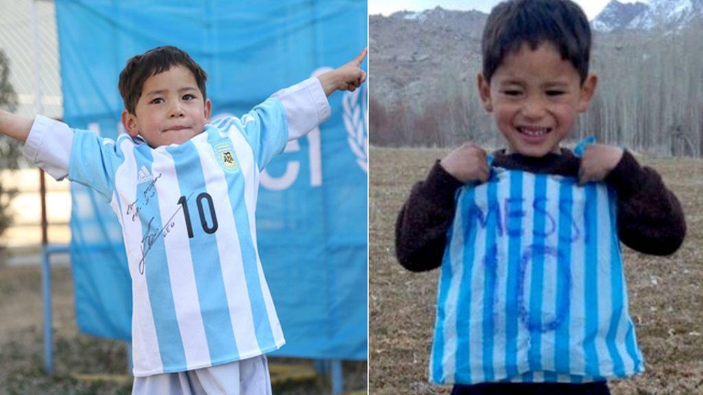 Messi hace realidad el sueño del niño afgano que se hizo famoso por su pasión por el argentino