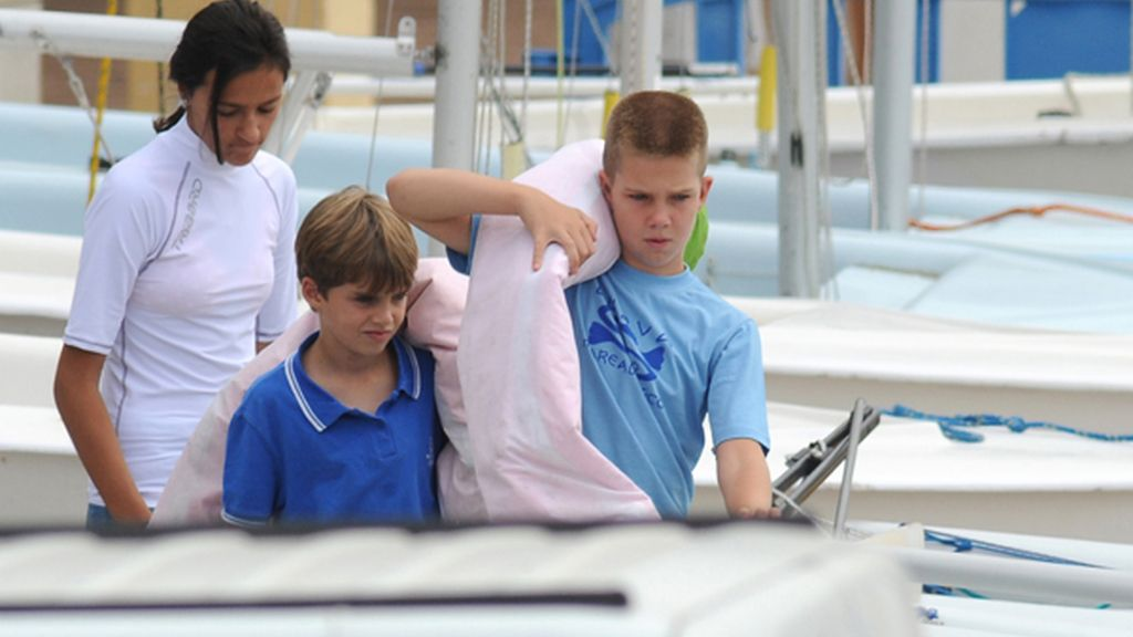 La familia real , al completo en Palma