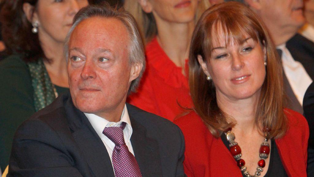 Josep Piqué y su mujer, Gloria Lomana