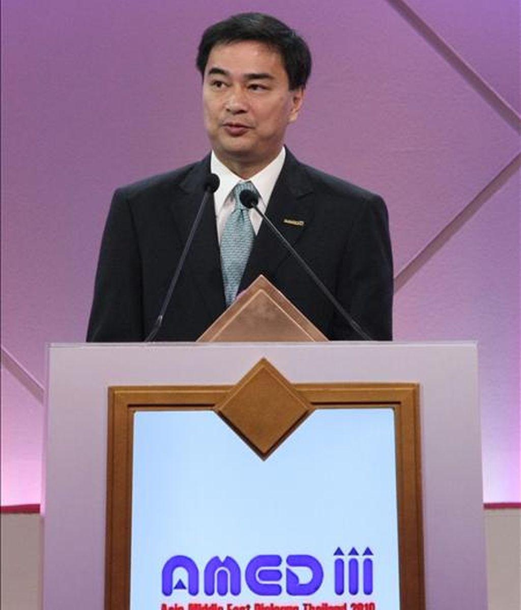 El primer ministro de Tailandia, Abhisit Vejjajiva. EFE/Archivo