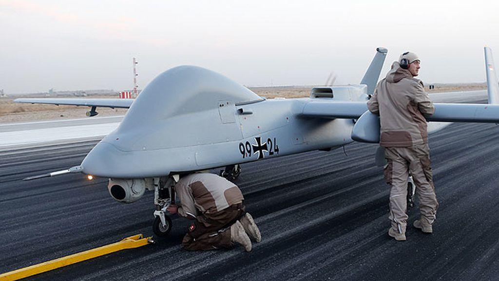 El avión no tripulado del Ejército alemán, listo para volar en Afganistán