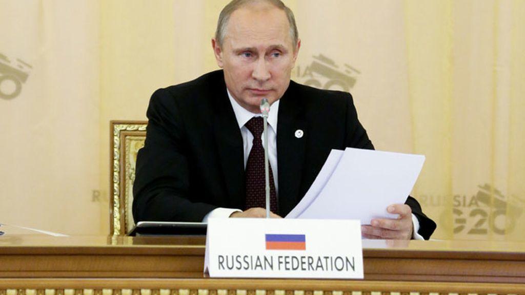 El líder ruso Vladimir Putin durante el discurso inaugural del G-20