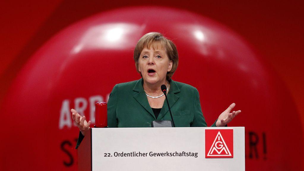 Merkel critica a los países que se resisten a aplicar una tasa financiera.