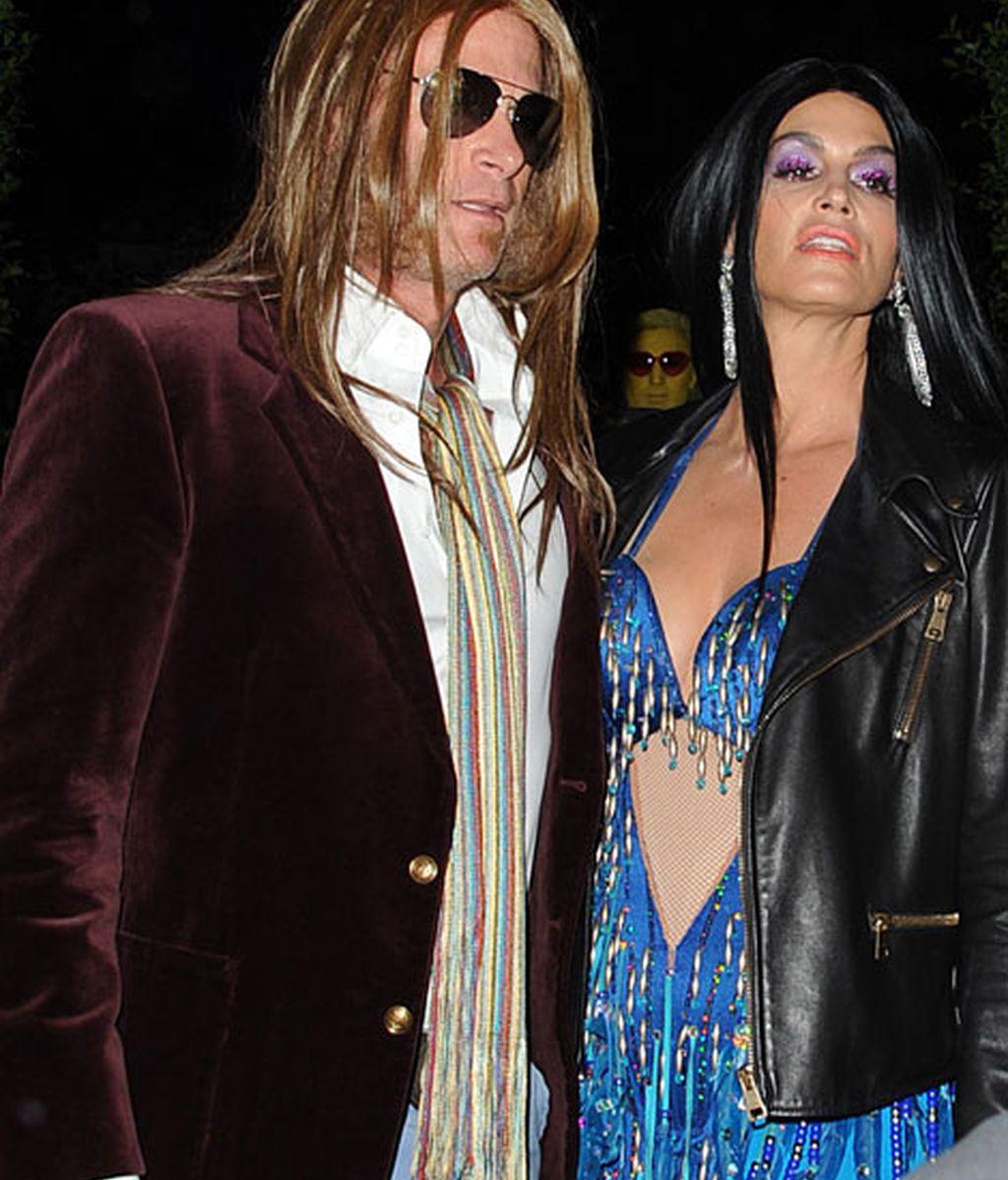 Crawford emuló a Cher, y su marido, Rande Gerber, al ex marido de la cantante Greg Allman