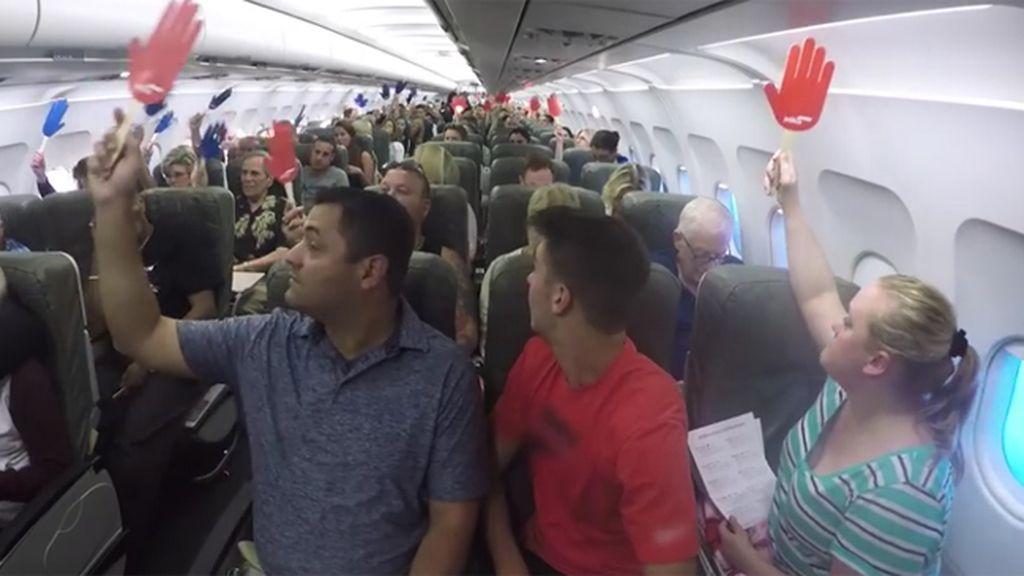 Una aerolínea reta a sus pasajeros para ganar un viaje gratis