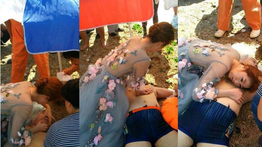 novia socorrista, novia primeros auxilios, China, Guo Yuanyuan, novia enfermera