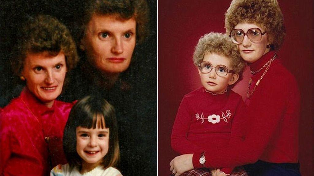 Las peores fotos de estudio: Madres e hijos