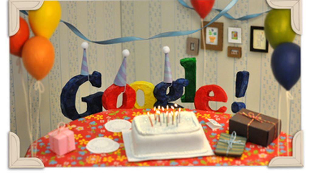 El último 'doodle' de la compañía consiste en una felicitación propia que celebra los primeros 13 años.