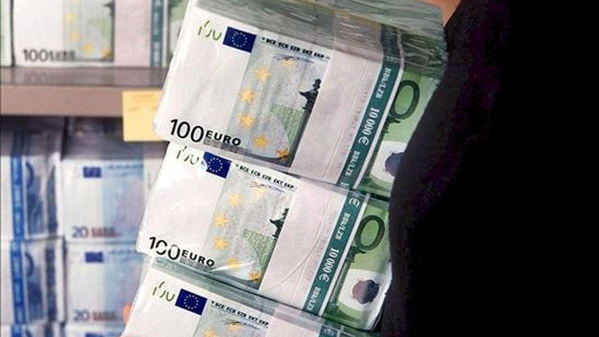 En la imagen, billetes de euro. EFE/Archivo