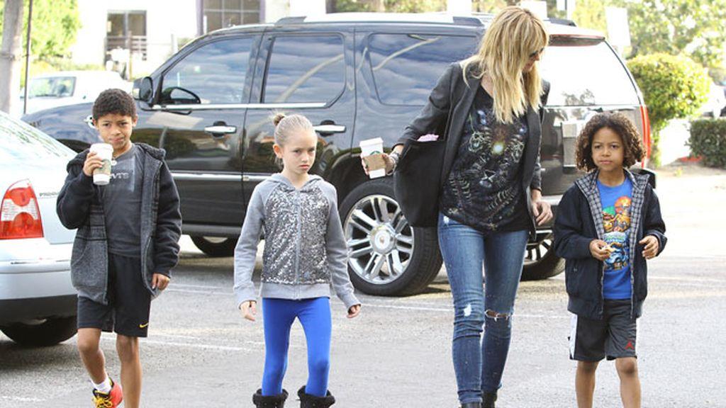 Heidi Klum tiene cuatro hijos: tres con Seal y una no reconocida de Briatore