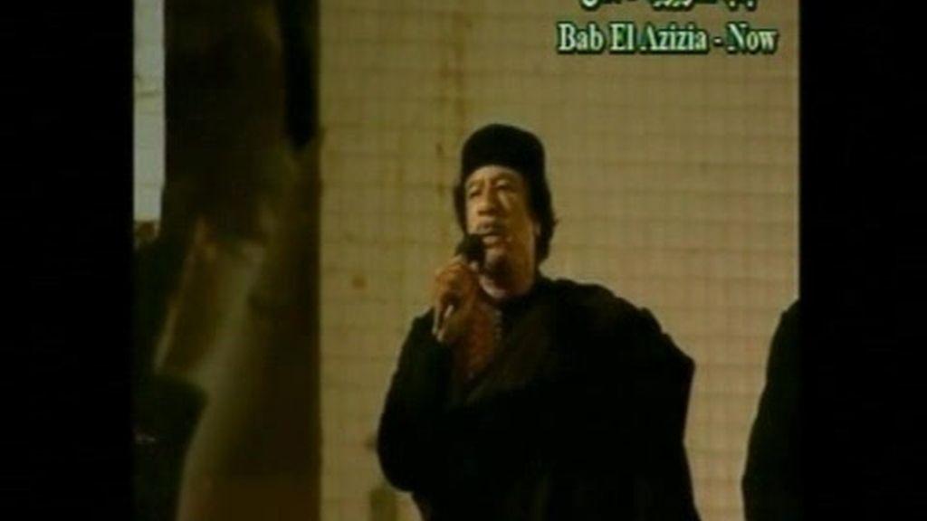 Gadafi promete a su pueblo la victoria