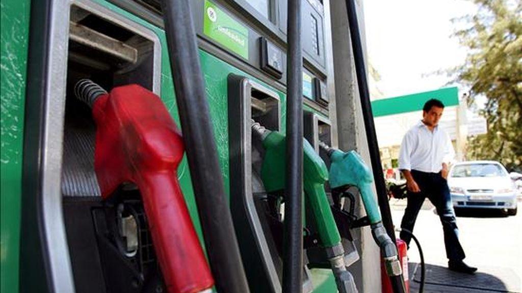 Varios surtidores de gasolina en una gasolinera. EFE/Archivo