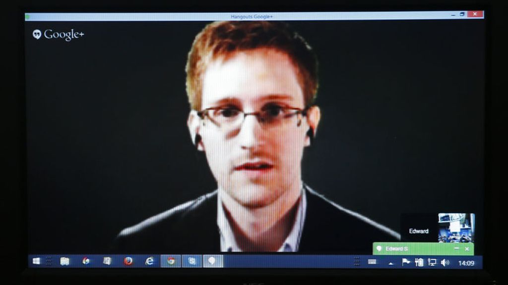 Edward Snowden habla sobre videovigilancia en Estrasburgo