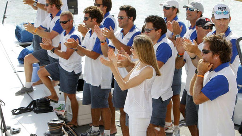 La Princesa Letizia felicita al 'Bribón' tras ganar la Copa del Rey