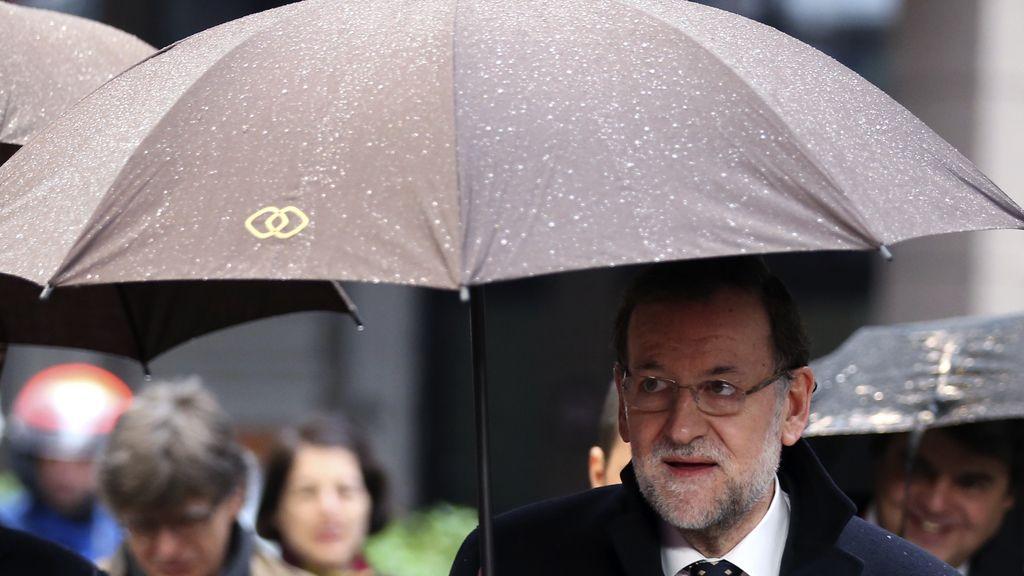 Mariano Rajoy llega al encuentro de líderes europeos en Bruselas