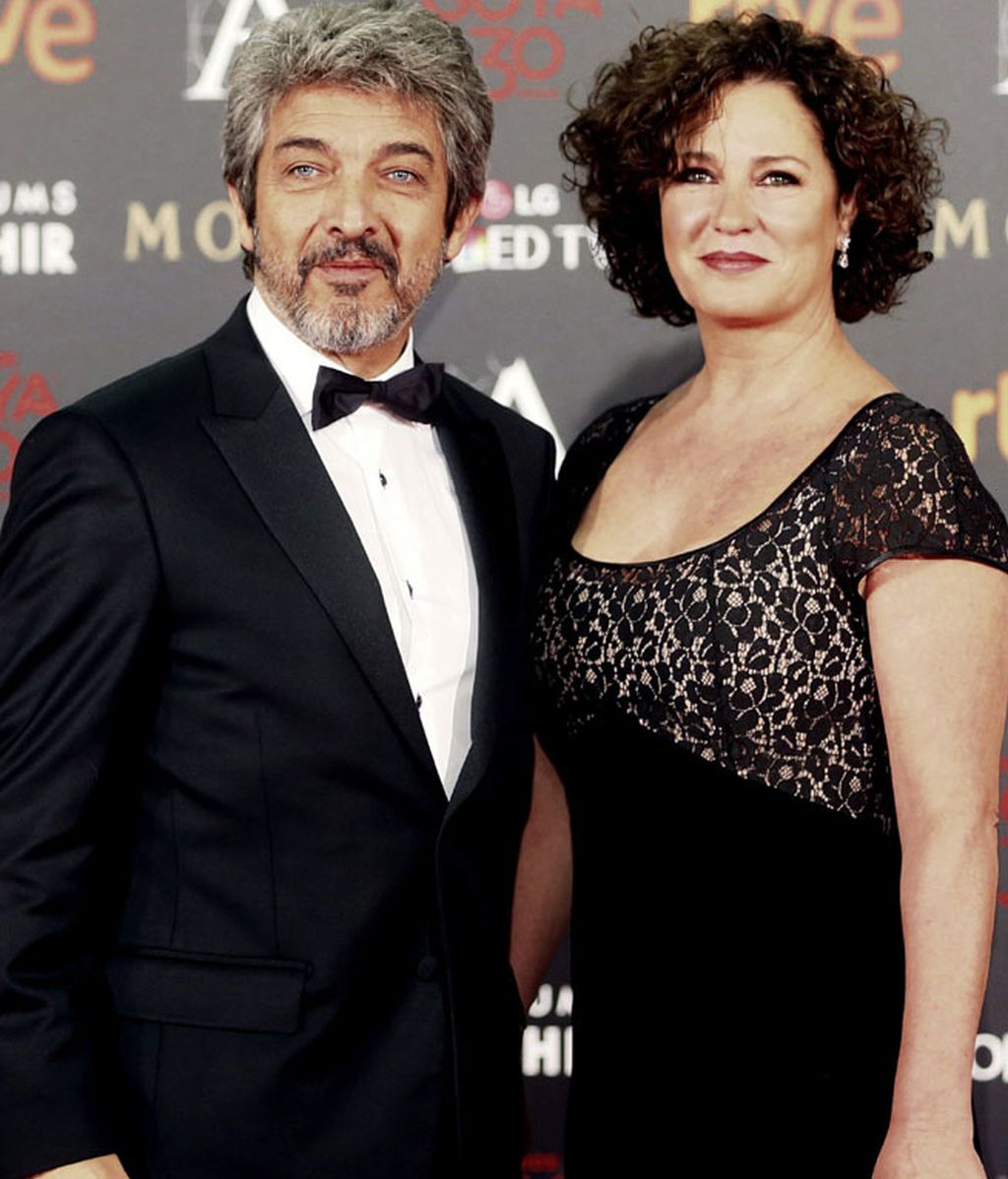 Ricardo Darín junto a su esposa