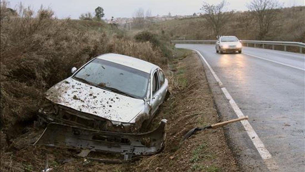 Un accidente registrado este fin de semana en la comarca salmantina de Ciudad Rodrigo. EFE/Archivo