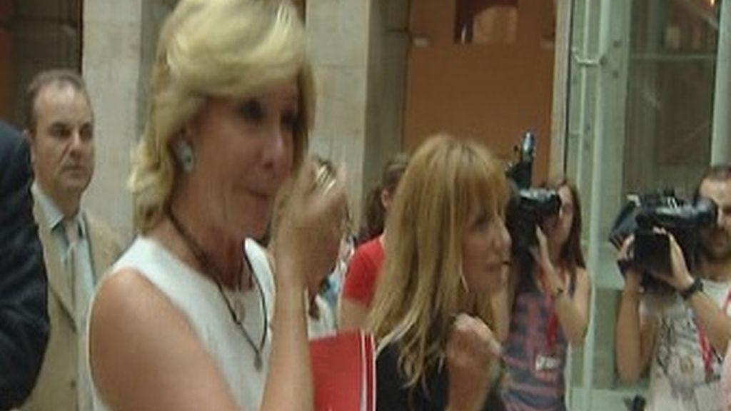 Esperanza Aguirre poco después de dimitir