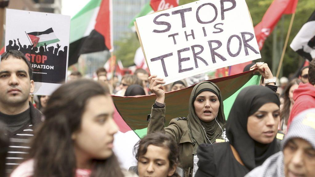 Manifestación propalestina en Bélgica