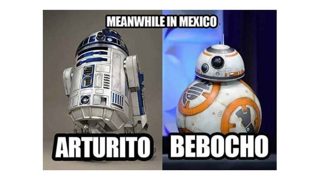 """""""Mientras tanto en México, R2-D2 y BB-8"""""""