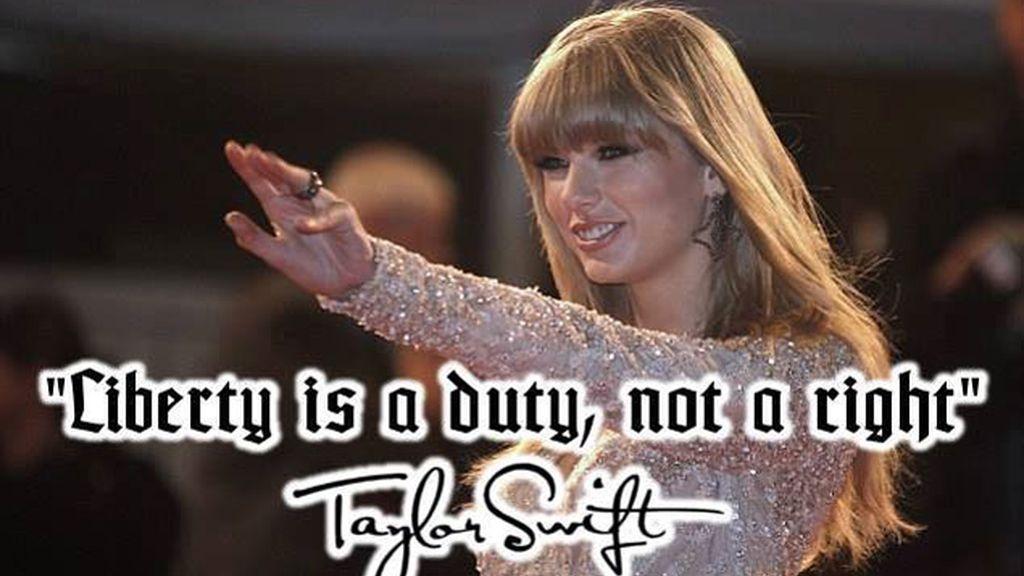 Taylor Swift encumbrada a 'Diosa aria' por los nazis