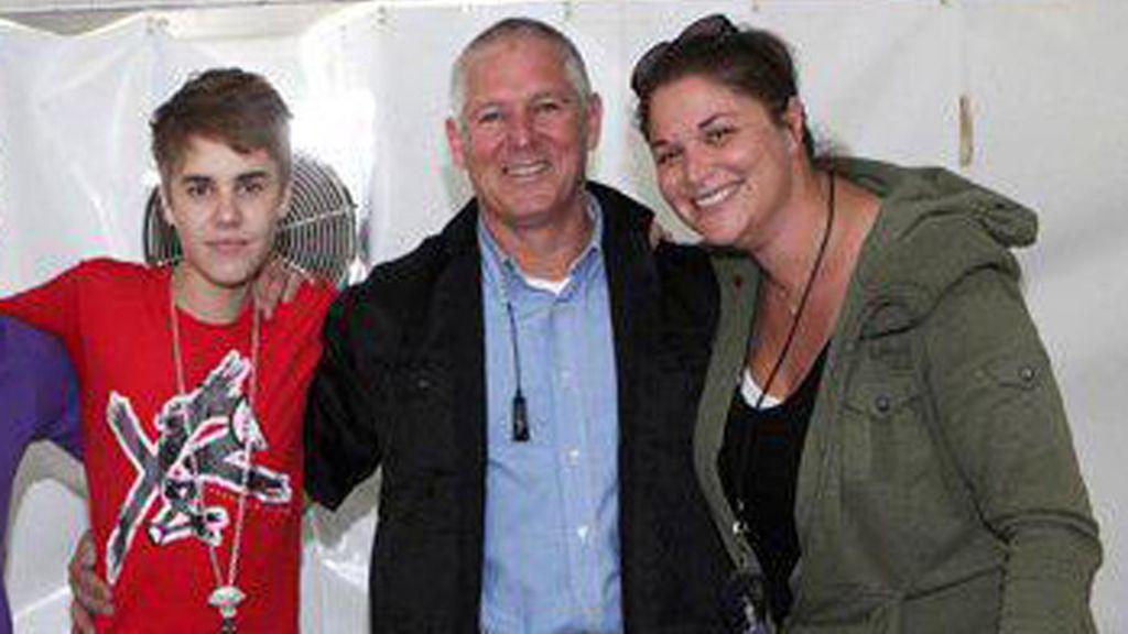 Justin Bieber con su exguardaespaldas Moshe Benabou
