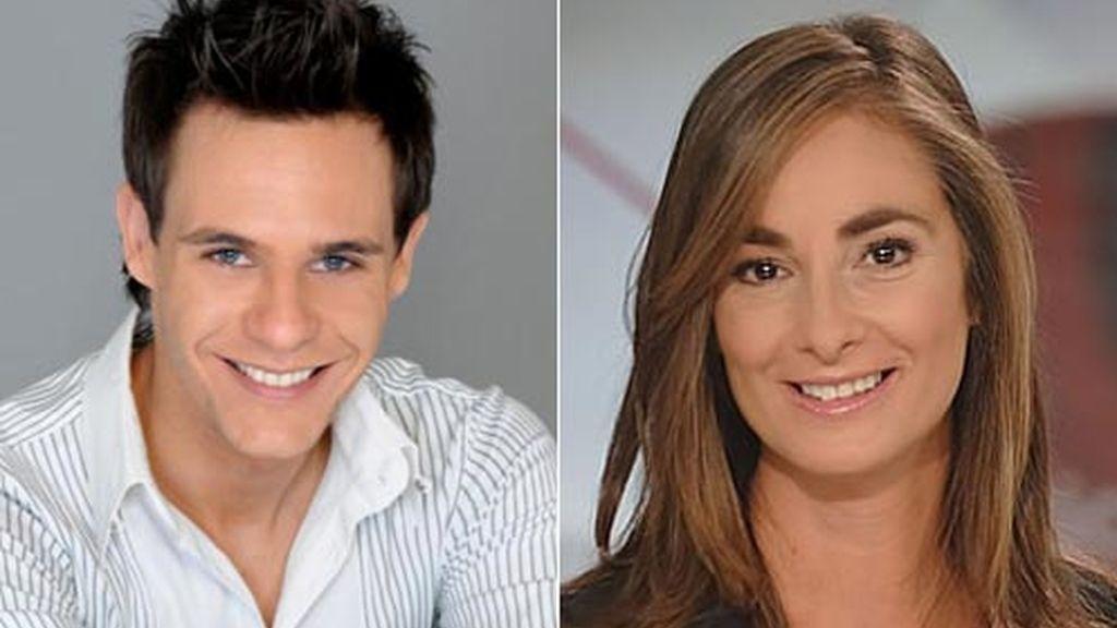 Christian Gálvez y Marta Reyero